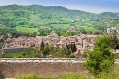 Część panorama od Albornoziana kasztelu obrazy royalty free