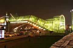 Część pieszy Bogdan Khmelnitsky most Zdjęcia Royalty Free