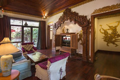 Luksusowego Hotelu apartament - Myanmar Obraz Royalty Free