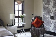 Część przestrzeń sypialnia Fotografia Stock