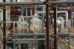 Część rafinerii instalacja przy fabryką fotografia royalty free