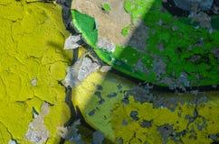 Część rysunkowi graffiti - kolorowy zniszczony ściana z cegieł Obrazy Stock