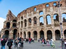 Część rzymski kolosseum, Rome, Italy obraz stock