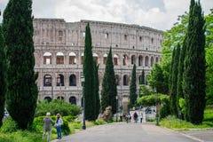 Część rzymski kolosseum, Rome, Italy zdjęcia stock