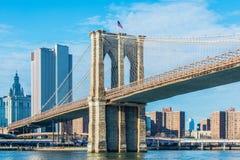 Część sławny most brooklyński Fotografia Royalty Free