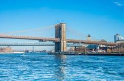 Część sławny most brooklyński Fotografia Stock