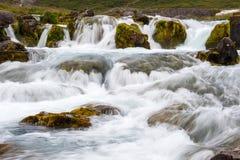 Część siklawa Dynjandi, Iceland Fotografia Royalty Free