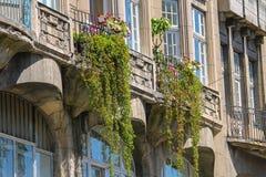 Część stary dom w historycznym centrum miasta Lviv Obrazy Stock