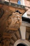 Część stary obdrapany balkon zdjęcie stock