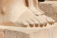 Część statua przy Karnak świątynią - Egipt Zdjęcie Stock