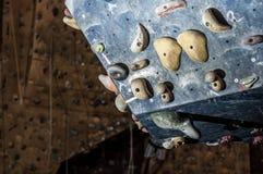 Część szkolenie wspinaczkowa ściana Fotografia Royalty Free