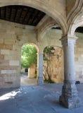Część Szkolny podwórze w uniwersytecie Salamanca, Hiszpania Obraz Royalty Free