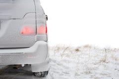 część tylna samochodowa zima Zdjęcie Royalty Free