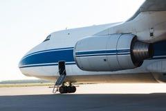 Część wielcy piękni pasażerscy samoloty fotografia royalty free