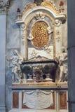 Część wnętrze Pisa katedra w piazza dei Miracoli Obraz Stock