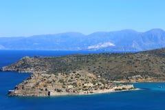 Część wschodni cretan wybrzeże Grecja, ocean w Crete obrazy royalty free