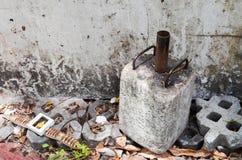 Część zaniechana betonowa ` s struktura Zdjęcia Stock