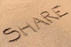 Część znak Na plaży Obrazy Stock