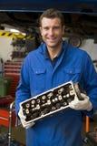 części gospodarstwa mechanika samochodowego się uśmiecha obrazy royalty free