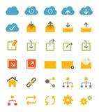 Części i sieci ikony Obrazy Stock