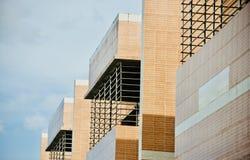 Części nowożytnego budynku unikalna fotografia zdjęcia stock