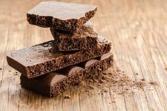 Części porowaty czekoladowy zakończenie Obraz Royalty Free