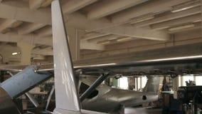 Części samolotu kadłub w zgromadzenie sklepie zbiory wideo