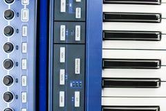 Części synth klawiatury zdjęcie royalty free