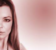 częściowa twarz kobiety fotografia stock