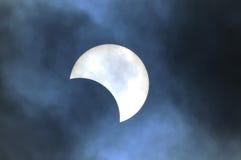 częściowe zaćmienia słońca Fotografia Royalty Free