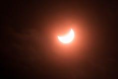 częściowe zaćmienia słońca Obraz Royalty Free