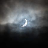 Częściowy Słoneczny zaćmienie North Yorkshire - UK - 20th 2015 Luty - Zdjęcie Stock