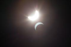 Częściowy Solare zaćmienie Nad Dallas Teksas Obrazy Stock