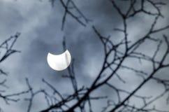 Częściowy Solareclipse marsz 20, 2015 - widok od Sofia Obraz Royalty Free