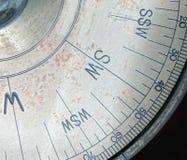 Częściowy widok Stary kompas Zdjęcia Royalty Free
