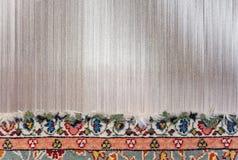 Częsciowo wyplatający dywan fotografia stock