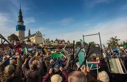 Częstochowski, Polska, Październik - 15, 2016: Zlany odpokutowanie, da zdjęcia royalty free