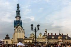 Częstochowski, Polska, Październik - 15, 2016: Zlany odpokutowanie, da obraz stock