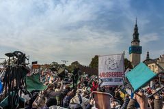 Częstochowski, Polska, Październik - 15, 2016: Zlany odpokutowanie, da zdjęcie stock