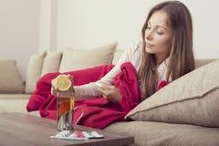 Częstowanie grypa zdjęcie royalty free