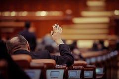 CZŁONKA PARLAMENTU głosować Zdjęcie Stock