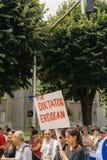 Członkowie Indyczy ` s Alevi społeczności protestować - erdogan jest di Zdjęcia Stock