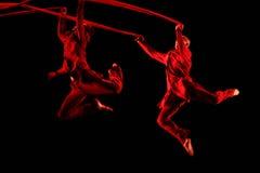 Członkowie Yevgeny Panfilov Baletniczy studio od Perm wykonują Romeo i Juliet podczas IFMC na Listopadzie 22, 2013 w Vitebsk, Był Zdjęcia Royalty Free