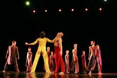 Członkowie Yevgeny Panfilov Baletniczy studio od Perm wykonują Romeo i Juliet podczas IFMC na Listopadzie 22, 2013 w Vitebsk, Był Zdjęcie Royalty Free