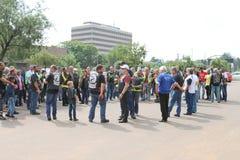 Członkowie zbiera przed Coroczną Mszalną przejażdżką Zdjęcie Stock