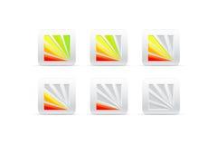 Członowy koloru wskaźnik od pięć części ilustracja wektor