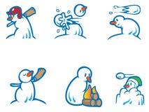 człowiek śniegu ilustracji