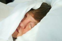 człowiek śpi obraz royalty free