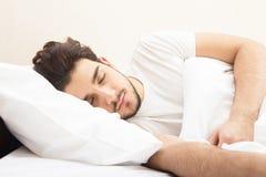 człowiek śpi Zdjęcie Stock