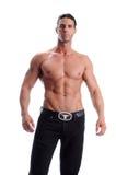 człowiek bez koszuli młodego Zdjęcia Royalty Free